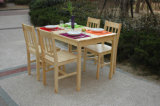 Festes Wood Dining Set Ein Table mit Four Chairs Set (M-X1020)