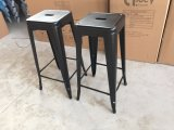 Античный промышленный стул высокой штанги Marais металла кофеего