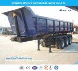 3 차축 45cbm U 모양 덤프 세미트레일러 또는 반 덤프 트럭 트레일러
