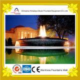 Fontaine d'eau de marbre extérieure d'étang de villa luxueuse pour la décoration