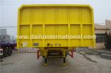 3 flancos del transporte de cargo a granel de Alxes/acoplado lateral de /Semi del semi-remolque de la gota