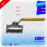 Válvula de esfera pequena rosqueada BSPT forjada F304 UL/FM do aço de Pn40 Mannual