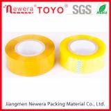 Cinta amarilla transparente a base de agua del limón de la cinta del pegamento OPP