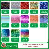 Vinyle en gros de transfert thermique d'hologramme des prix et de qualité de Qingyi seul pour le T-shirt
