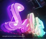 Personaliza a Letra do canal do LED RGB iluminado para o sinal de publicidade exterior