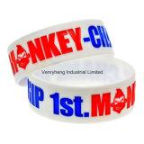 Il marchio all'ingrosso di promozioni personalizza il braccialetto del silicone