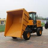 Hydraulische Kipwagen van de Aandrijving van het Wiel van de Machine van de aarde de Bewegende 7ton 4X4