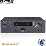 O amplificador estereofónico o mais atrasado do DJ do áudio da fonte 25W da fábrica do projeto com USB