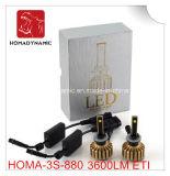 Arrivo nuovo H1 H3 H7 H8 H9 H11 9005 9006 H4 H13 9004 9007 motociclo della lampadina del faro delle 880 automobili LED e faro dell'automobile LED