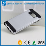 Caja Smartphone del satén del cepillo para la nota 5 de la galaxia de Samsung