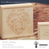 Caja de madera de Hongdao Caja de foto de boda Caja de regalo
