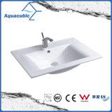 Lavabo rectangular de Polymarble del cuarto de baño de la alta calidad (ACB0090)
