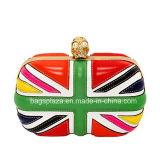Saco de noite bonito da embreagem do estilo da bandeira de união, saco de noite Multicolor
