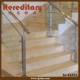 Balaustra moderna di vetro e dell'acciaio inossidabile per la scala dell'interno (SJ-H1901)