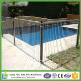 Aluminiumpool-Zaun-Panel 2.4m - flaches Spitzengarten-Fechten des SCHWARZ-1200X2400