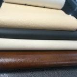 Cuero del poliuretano para las sillas del sofá de los muebles