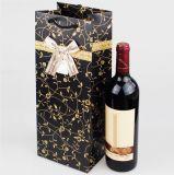 Мешок подарка бумаги мешка вина бумаги черного искусствоа