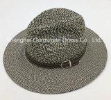 Sombrero de papel Sunhat con la venda de cuero de la corona de la PU (Sh028)