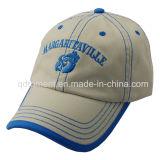 Baumwoltwill-Ebene gewaschene Baseball-Sport-Schutzkappe 100% (TRNB025)