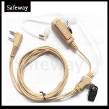 Écouteur acoustique de tube de talkie-walkie beige de couleur