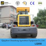 Chargeur de roue de 5 tonnes avec l'engine de Shangchai, climatiseur, manche