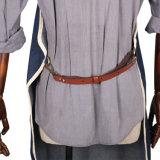 La mano hizo el delantal del camarero a mano del dril de algodón de la parte posterior de la cruz de la alta calidad con el bolsillo