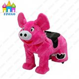 Finego Electronic Furry Stuffed Pig Animal Kiddie Rides à vendre