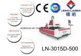 machine de découpage de laser de fibre en métal d'acier inoxydable de la commande numérique par ordinateur 500With1000W