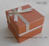 Caja de joyería de papel impresa insignia de encargo antigua