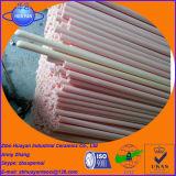 Tubos resistentes des alta temperatura del alúmina usados en el horno de resistencia eléctrica