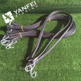EPDM Rubber Bungee Tarp Strap with Steel Ganchos