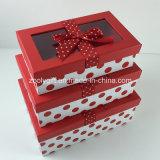Le POINT fait sur commande a estampé la boîte-cadeau de papier décorée par bande avec le guichet clair