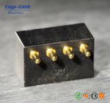 Изготовленный на заказ разъем Pin Pogo, сделанный из латуни и нержавеющей стали при покрынное золото
