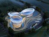 Фотоего перспективы 3D офисного здания высотки красотка внешнего реалистическая светлая