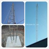 Башня антенны Guyed связи горячего DIP гальванизированная круглая стальная