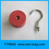 Ganchos de leva magnéticos del crisol revestido fuerte del caucho