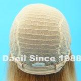 Perruque légère élevée de cheveux humains avec l'avant de lacet