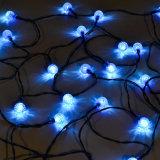 24 luces de hadas solares de la bola al aire libre de las luces de la Navidad de la cadena del LED