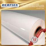 Material do PVC e vinil autoadesivo branco do uso das etiquetas do corpo
