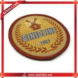 Изготовленный на заказ Round Woven Patch Label для Clothing