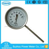 maat van de Temperatuur van het Roestvrij staal van de Thermometer van 100mm de Bimetaal
