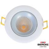 lampe légère élevée de petite taille du bâti DEL d'or de rendement de découpage de 7W 80mm vers le bas