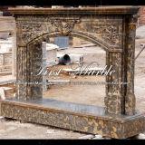 Marmeren Open haard mfp-385 van Giallo Marrone van de Open haard van het Graniet van de Steen