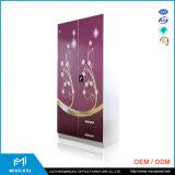 Mingxiu 고품질 2 문 인도 침실 옷장 디자인/저장 내각