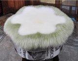 花の形の円形の長いウールの羊皮のシートか椅子のクッション