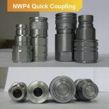 Couplage rapide hydraulique Zn-Plaqué et parNi plaqué Socket+Nut (acier) de coupleur plat de face d'OIN 16028