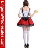 Oktoberfest 공상 떨어져 어깨 여자를 위한 Lace-up 맥주 소녀 Cosplay 복장 복장