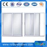 Populäres Art-Puder-überzogenes Weiß, das Aluminiumfenster schiebt