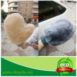 Guanto mezzo del lavaggio di automobile della pelle di pecora di prezzi di fabbrica dell'OEM