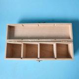 casella di legno personalizzata 4-Latticed per l'imballaggio del regalo